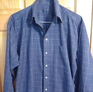 Burberry London Mens Size Large Shirt Navy/White